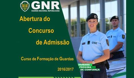 Concurso para Curso de Formação de Guardas